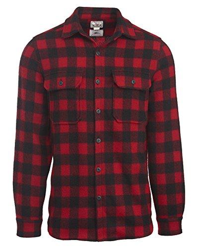 Woolrich Men's Made in the USA Wool Shirt, Red/Black, Medium Woolrich B015ORTJB4