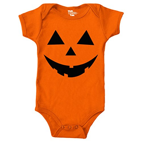 Pumpkin Face - Halloween Bodysuit (Orange, 6 -