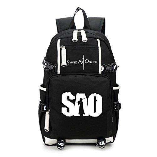 YOYOSHome Luminous Japanese Anime Cosplay Bookbag College Bag Backpack School Bag (Sword Art Online)