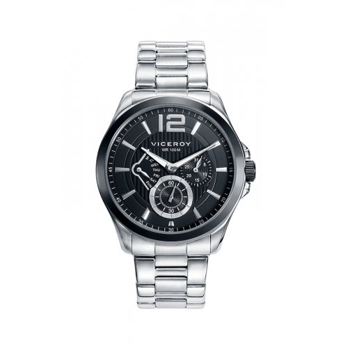 Reloj Viceroy 46679-53 Steel Multifunction Black Man