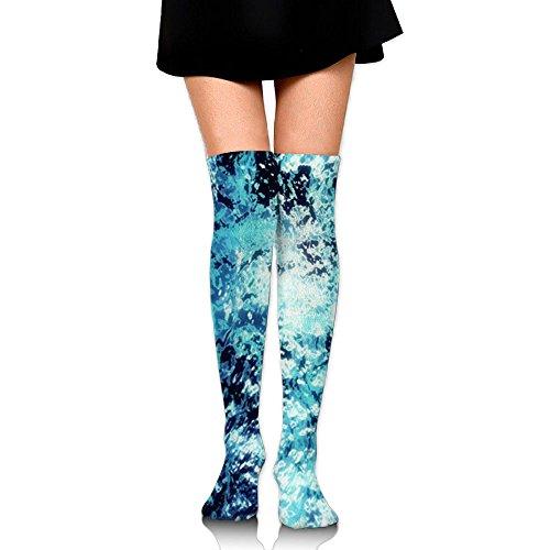 Flux De Locéan Womens Longtemps Au-dessus Du Genou Cuisse Haute Bas Cosplay Chaussettes Stockage Blanc