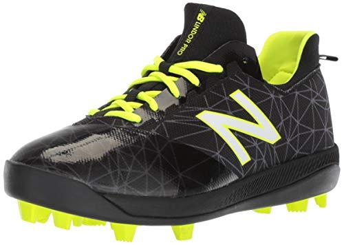 New Balance Boys' Furon V1 Molded Soccer Shoe, Black/Black, 5 W US Big Kid (Boys Baseball Metal Cleats)