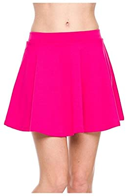 G2 Chic Women's Solid A-Line Skater Skirt