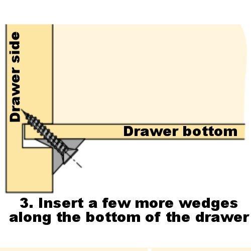 Amazon Com Furniture Drawer Bottom Sagging Repair Fix Mend Mending Wedges Pack Of  Kitchen Dining