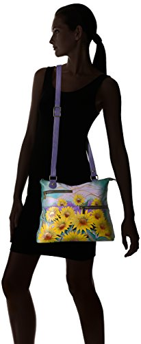 Anuschka Hand Painted Leather Large Crossbody by ANUSCHKA (Image #6)