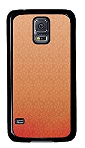 Samsung Galaxy S5 design cover Peach Flowers PC Black Custom Samsung Galaxy S5 Case Cover