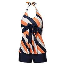 MiYang Womens Two Pieces Slim Tankini Suit BathingSwimwear