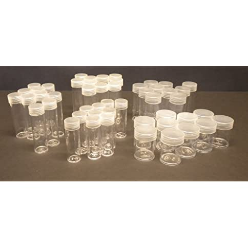 50 coin tubes, assorted sizes - crystal clear and archival safe - 413Jdxd3SOL - 50 Coin Tubes, Assorted Sizes – Crystal Clear and Archival Safe