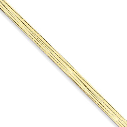 14kt Yellow Gold 5.0mm Silky Herringbone Chain Bracelet; 7 inch ()