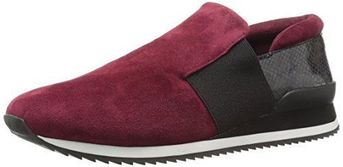 Bella Vita Womens Ezra Fashion Sneaker Burgundy Kid Suede