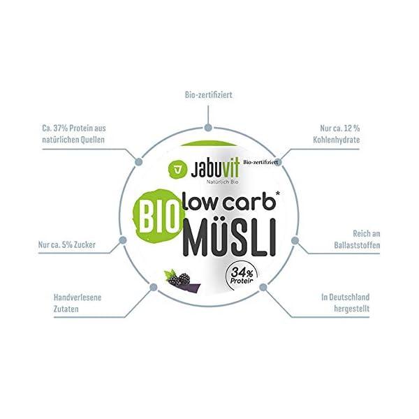 JabuVit - Müsli biologici a basso contenuto di carboidrati e solo circa il 5% di zucchero, 500 g (classico) 2 spesavip