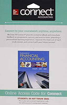 Connect 1 Semester Access Card for Fundamentals of Financial Accounting