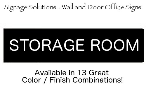 Signage Solutions Wall Or Door Sign Storage Room
