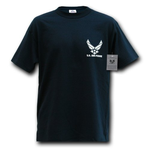 Rapiddominance Air Force Wing Classic Military Tee, Navy,