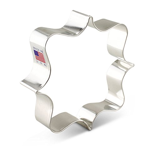 Ann Clark Square Plaque Cookie Cutter - 4 Inches - Tin Plated Steel ()