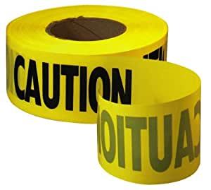 Empire Level 71-1001 1000-Feet by 3-Inch Caution Barricade Tape, Yellow