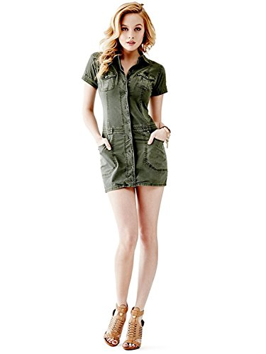 Guess-Womens-Point-Collar-Cargo-Dress