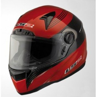 CASCO LS2 CR1 PILOT ROJO CARBON (XL, ROJO)