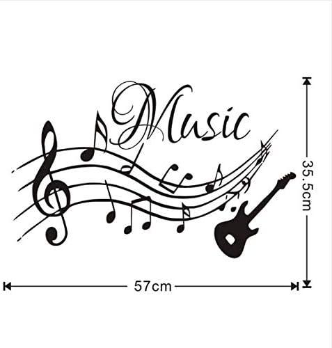 Zemn Wall Sticker Notas Musicales Música para Guitarra DIY ...