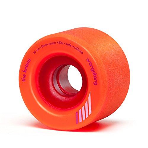 Dregs Skateboards - Orangatang Keanu 66 mm 80a Freeride Longboard Skateboard Wheels (Orange, Set of 4)