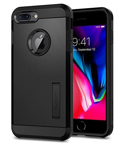 Spigen Tough Armor [2nd Generation] iPhone 8 Plus Case/iPhone 7 Plus Case with Kickstand Air Cushion Technology for Apple iPhone 8 Plus (2017)/iPhone 7 Plus (2016) - Black by Spigen (Image #1)