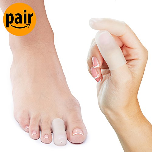 Cap Sleeve Cover - NatraCure Gel Toe/Finger Cap and Protector - 1 Pair - (Size: Small/Medium) - Helps Cushion and Reduce Pain from Corns, Blisters, Hammer Toes, and Ingrown Nails
