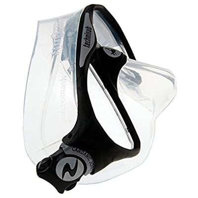 Image of Aqua Lung MicroMask Double Lens Dive Mask (Black)