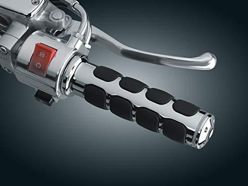 (Kuryakyn 6190 Premium ISO Handlebar Grips for Throttle and Clutch: 1997-2005 Honda Valkyrie Motorcycles, Chrome, 1 Pair)