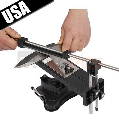 Priority Chef Knife Sharpener, Professional Kitchen Sharpening Knife Sharpener System Fix-angle With 4 Stones