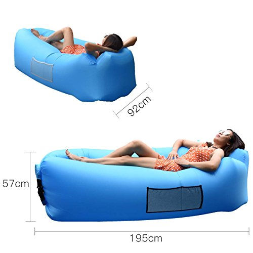 Outdoor Inflatable Lounger Couch, Air Sofa Blow Up ...