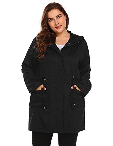 Zeagoo Plus Size Fall Anorak Street Fashion Hoodies Active Lightweight Zip up Women Safari Jacket