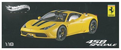Ferrari 458 Italia Speciale Yellow Hotwheels Elite 1:18th