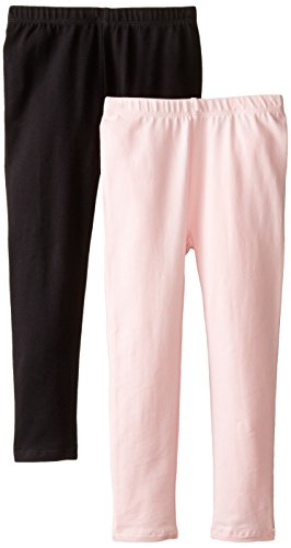The Childrens Place Big Girls  Solid Legging (Pack of 2), Black/Shell, Medium (7/8)