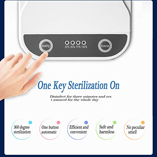 Phone Cleaner Sterilizer Portable Box USB Multi-Function Cell Phone Aromatherapy Function Disinfector for Makeup Tools Jewelry Watches Earphones Keys