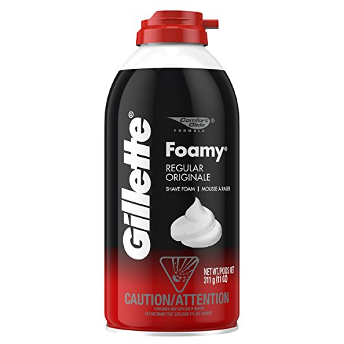Gillette Foamy Shaving Cream, Regular - 11 oz