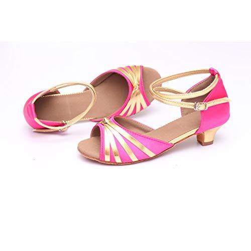 Latine Femmes Bas Escarpins De Chaussures Salon a Vif Pour Osyard Rose Danse Talon 4cm BnqgtRXa