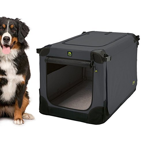 Maelson Foldable Soft Kennel 48  Anthracite Dog Crate