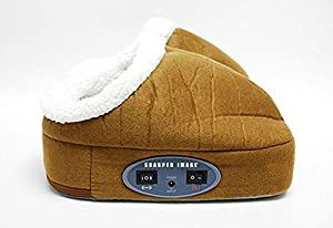 Sharper Image Warming Foot Massager - Dark Tan