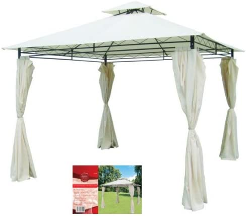 Hamble Redwood bb-ga285 3 m Metal Gazebo con Cortinas Laterales: Amazon.es: Jardín