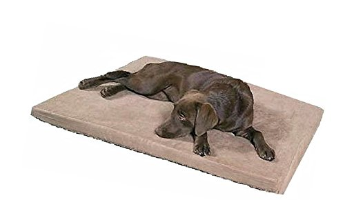 Cheap Large Waterproof Memory Foam Pet Dog Bed with Brown Washable MicroSuede Cover + Extra 2nd Cover