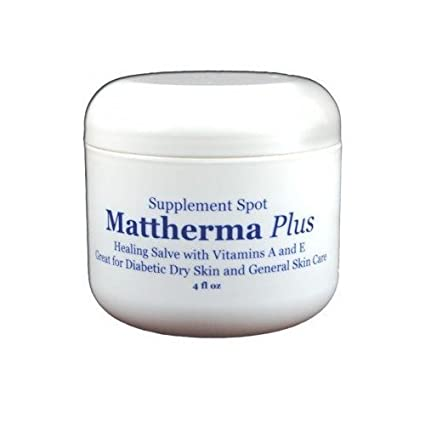 supplementspot mattherma Plus curación Salve con vitaminas a y e, ideal para piel seca y General para