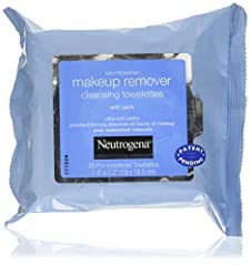 Remove makeup in one easy step with Neutrogena Makeup Remover Cleansing Towelettes. These soft and gentle pre-moistened facial cleansing wipes effectively dissolve all traces of dirt, oil and makeup—even waterproof mascara—without irritation ...