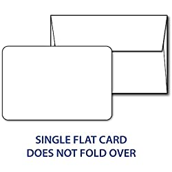 "Blank White 5"" X 7"" Cards with Rounded Corners - Includes 40 Cards & 40 Envelopes"