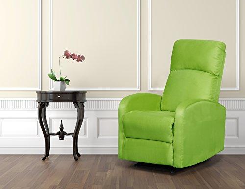 (Artiva USA Modern Home Slim Design Microfiber Recliner, Lime Green)
