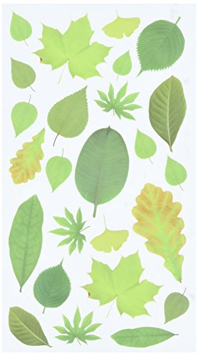 Sticko 52-01359 Leaves Stickers, Green]()
