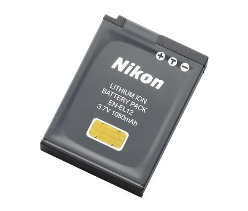 (Nikon EN-EL12 Li-ion Battery for Nikon MH-65 Coolpix AW100 AW100s AW110 AW110s AW120 P300 P310 P330 S31 S70 S610 S620 S630 S640 S800c S1000pj S1100pj S1200pj S6000 and more)