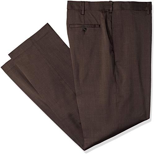 - Savane Men's Big and Tall Stretch Crosshatch Flat Front Dress Pant, Turkish Coffee, 46W x 32L
