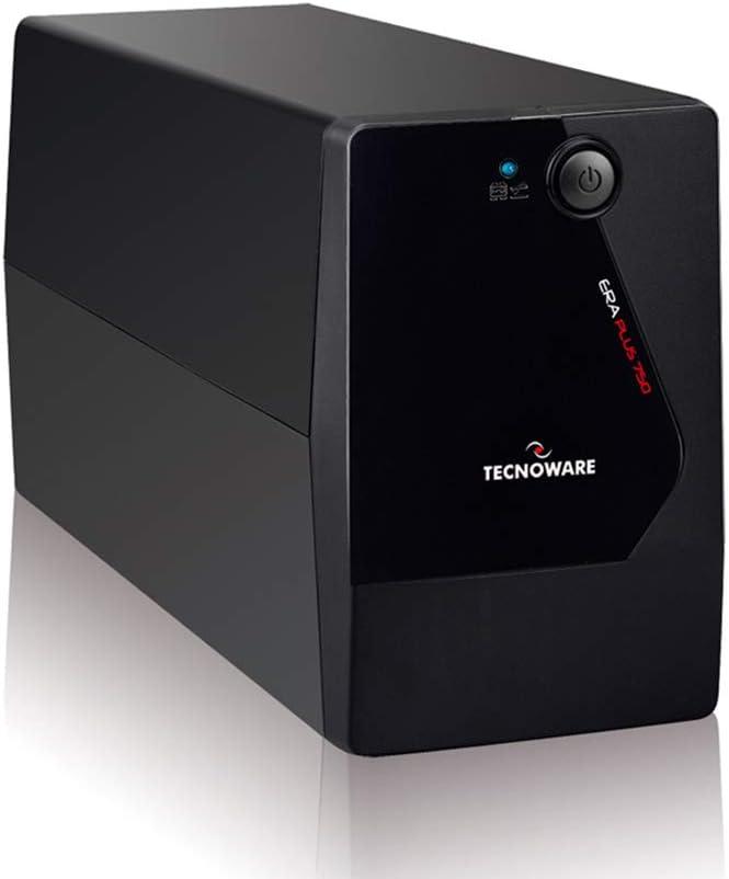 Tecnoware UPS ERA PLUS 750 Sistemas de Alimentación Ininterrumpida - 2 salidas Schuko - Autonomía hasta 10 min con 1 PC o 40 min con Modem Router - Potencia 750 VA