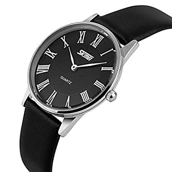 Reloj de pulsera de cuarzo, analógico, diseño de japonesa para mujer Noir-Noir