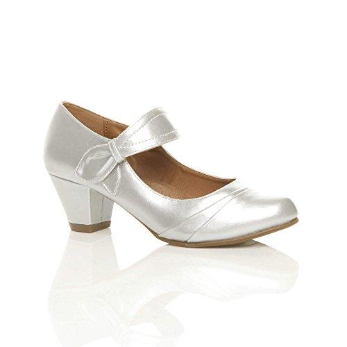 Chaussures Escarpins Travail Femmes Confort De Argent Babies Talon Moyen Pointure Ajvani CqxXIw8pw